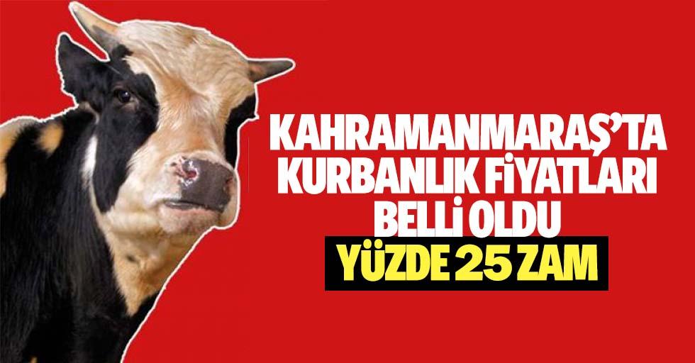 Kahramanmaraş'ta kurbanlık fiyatları belli oldu, yüzde 25 zam