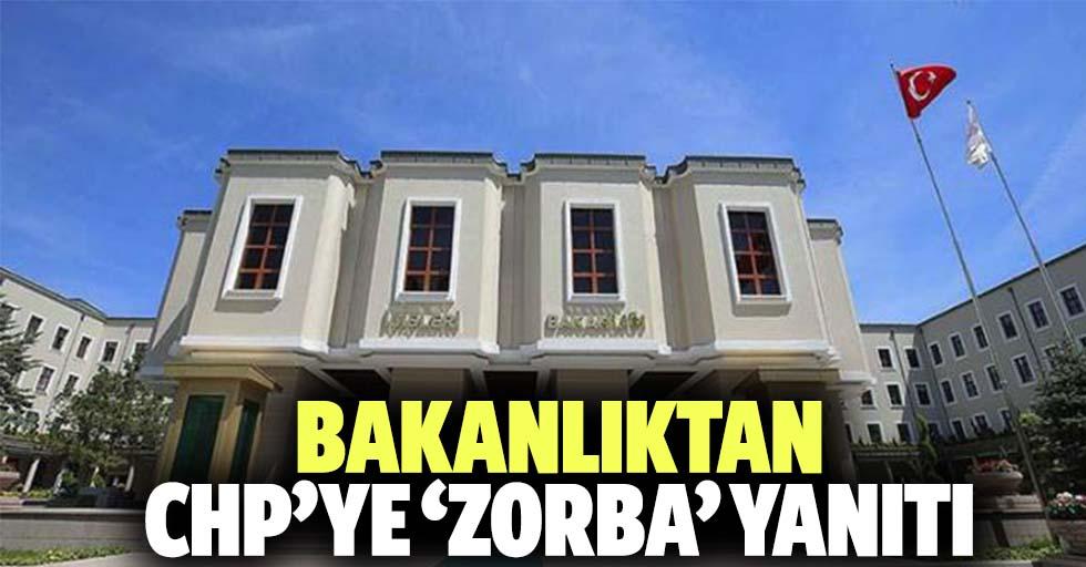 CHP'ye 'zorba' yanıtı