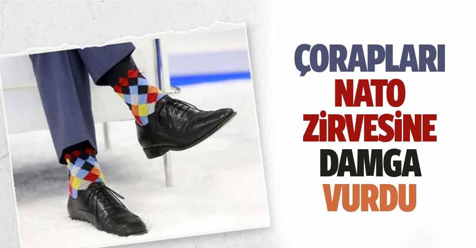 Çorapları NATO zirvesine damga vurdu
