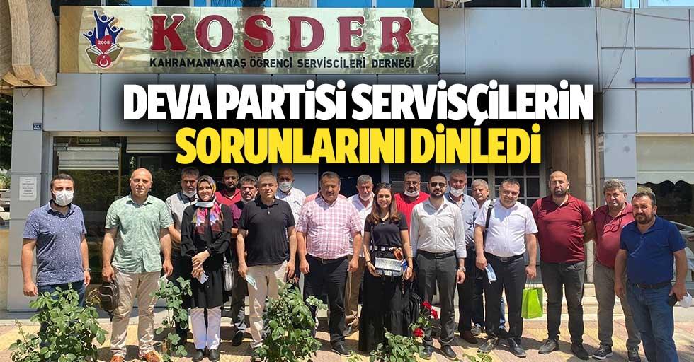 Deva Partisi Servisçilerin Sorunlarını Dinledi