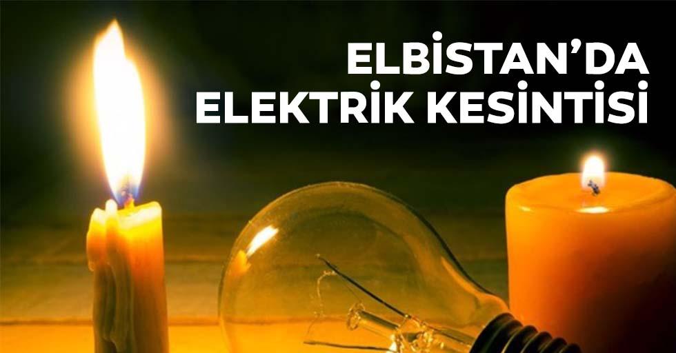Elbistan'da elektrik kesintisi