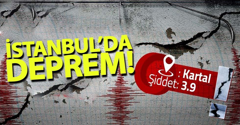 İstanbul'da 3.9 şiddetinde deprem!