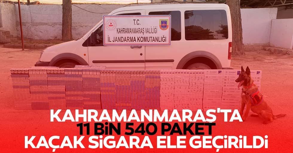 Kahramanmaraş'ta 11 bin 540 paket kaçak sigara ele geçirildi