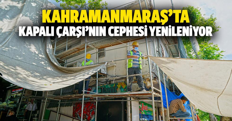 Kahramanmaraş'ta kapalı çarşı'nın cephesi yenileniyor