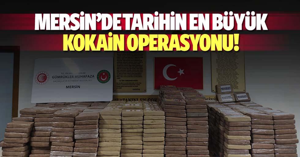Mersin'de tarihin en büyük kokain operasyonu