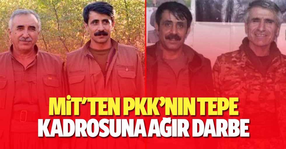 MİT'ten PKK'nın Tepe Kadrosuna Ağır Darbe