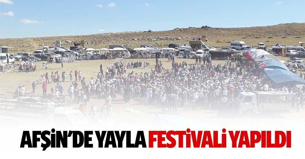 Afşin'de yayla festivali yapıldı