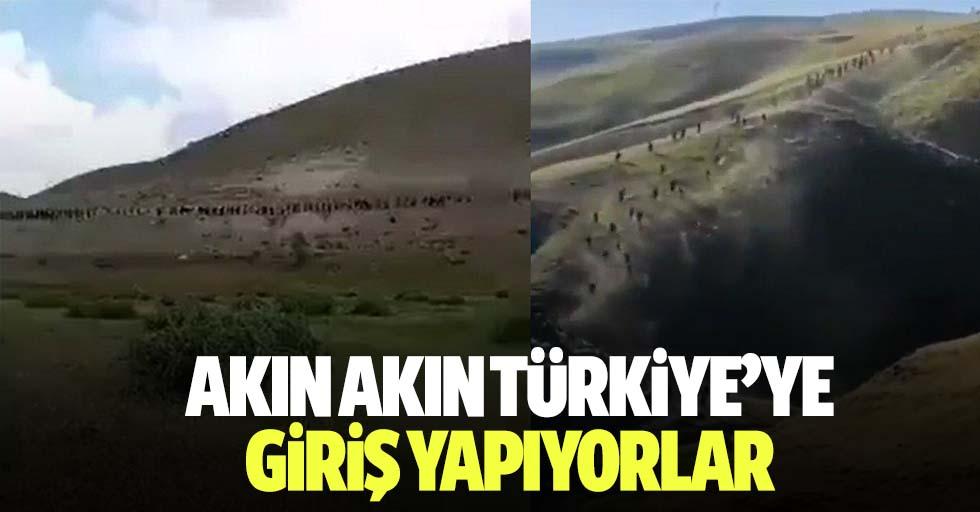 Akın akın Türkiye'ye girİş yapıyorlar