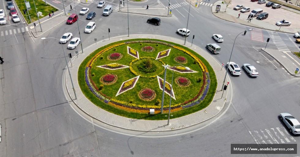 Büyükşehir'in Ürettiği Çiçekler Şehri Renklendiriyor