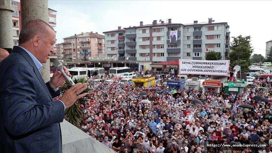 Cumhurbaşkanı Erdoğan'dan Artvin açıklaması