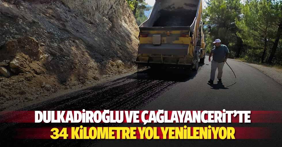 Dulkadiroğlu ve Çağlayancerit'te 34 kilometre yol yenileniyor