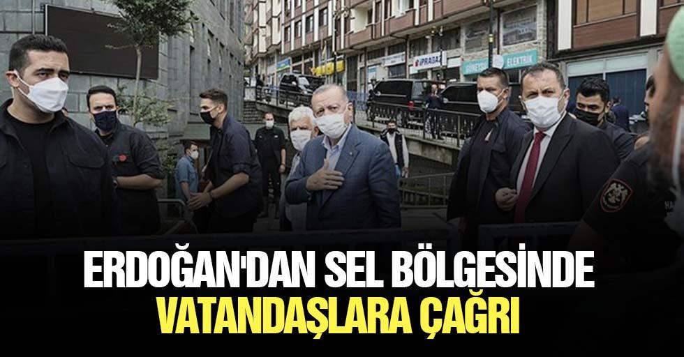 Erdoğan'dan Sel Bölgesinde Vatandaşlara Çağrı