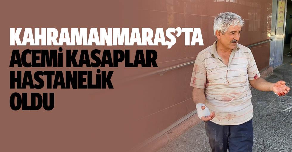 Kahramanmaraş'ta acemi kasaplar hastanelik oldu
