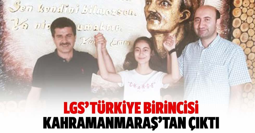 LGS' Türkiye birincisi Kahramanmaraş'tan çıktı