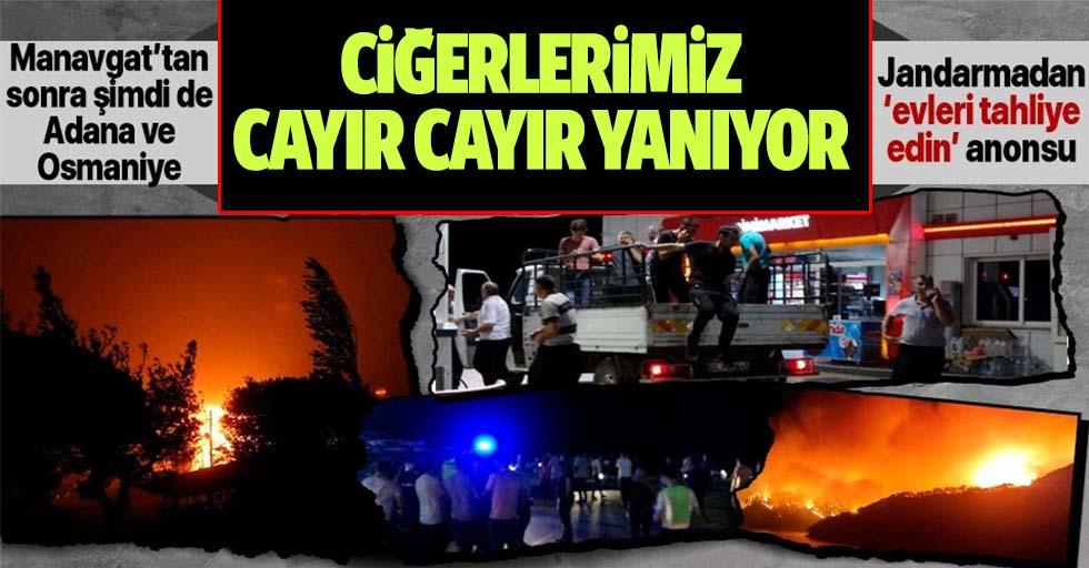 Manavgat'tan sonra şimdi de Adana Kozan ve Osmaniye! Yangın nedeniyle köyler tahliye ediliyor...