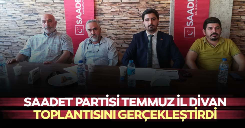Saadet Partisi Temmuz İl Divan Toplantısını Gerçekleştirdi