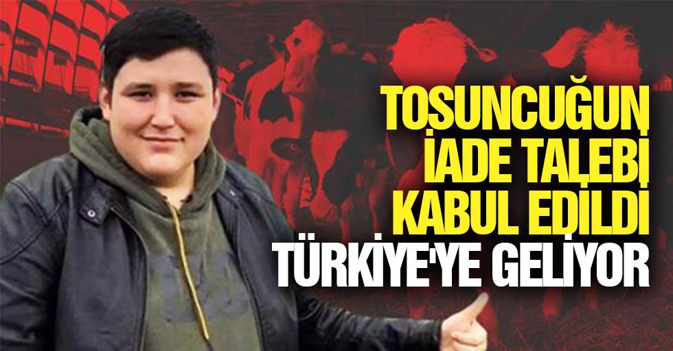 Tosuncuğun İade Talebi Kabul Edildi, Türkiye'ye Geliyor