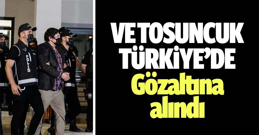 Tosuncuk Türkiye'de, İstanbul'da gözaltına alındı