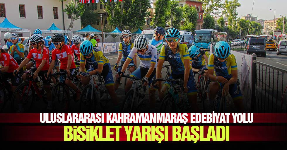 Uluslararası Kahramanmaraş edebiyat yolu bisiklet yarışı başladı