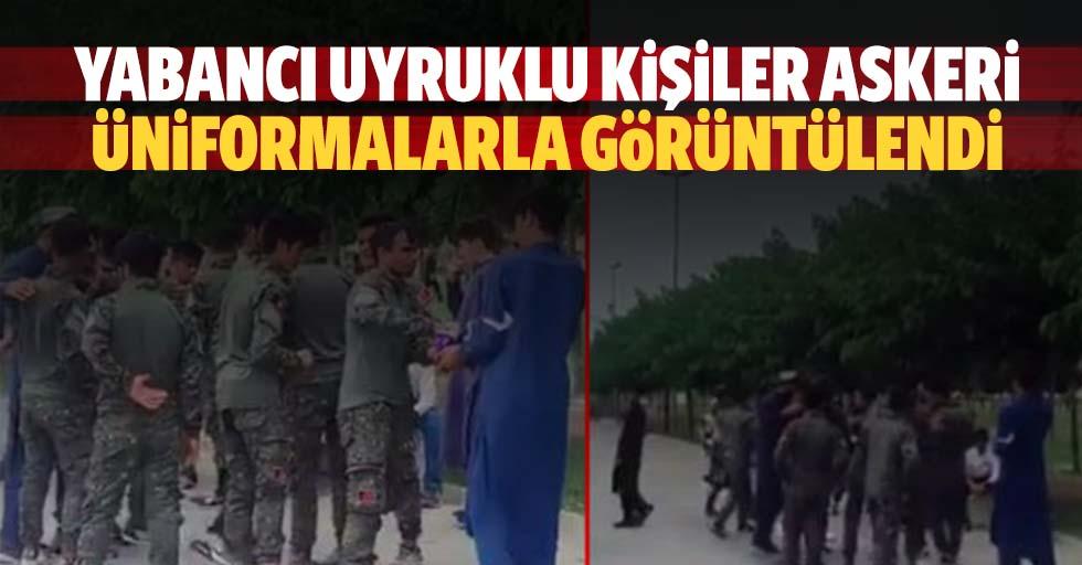 Yabancı Uyruklu Kişiler Askeri Üniformalarla Görüntülendi