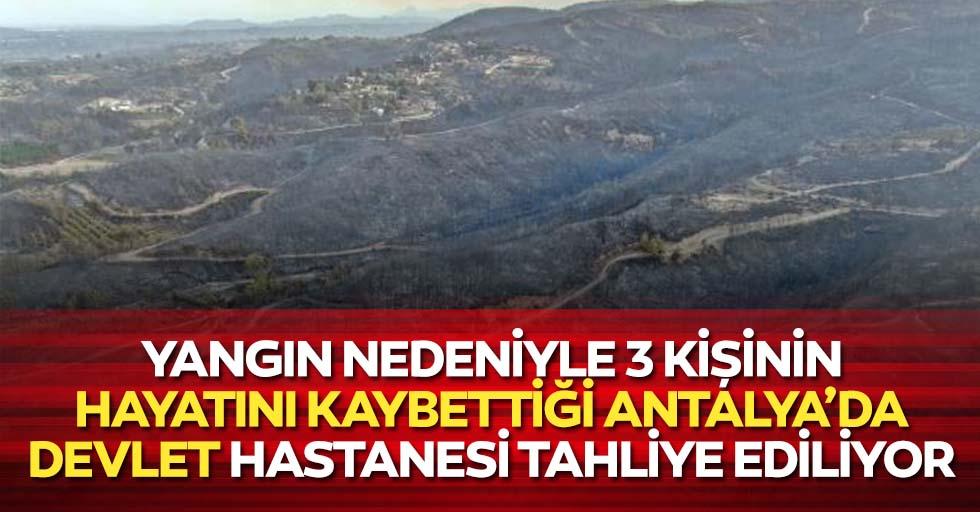 Yangın Nedeniyle 3 Kişinin Hayatını Kaybettiği Antalya'da Devlet Hastanesi Tahliye Ediliyor