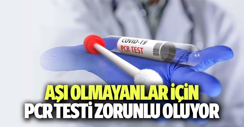 Aşı olmayanlar için Pcr testi zorunlu oldu