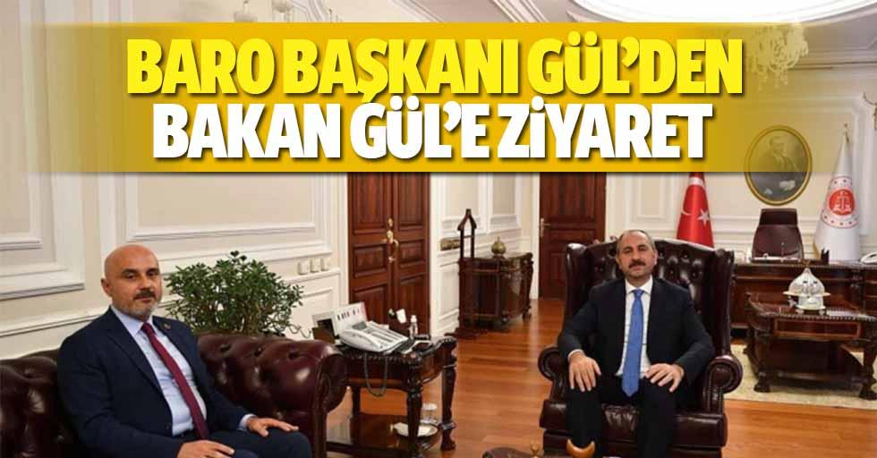 Baro Başkanı Gül'den Bakan Gül'e Ziyaret