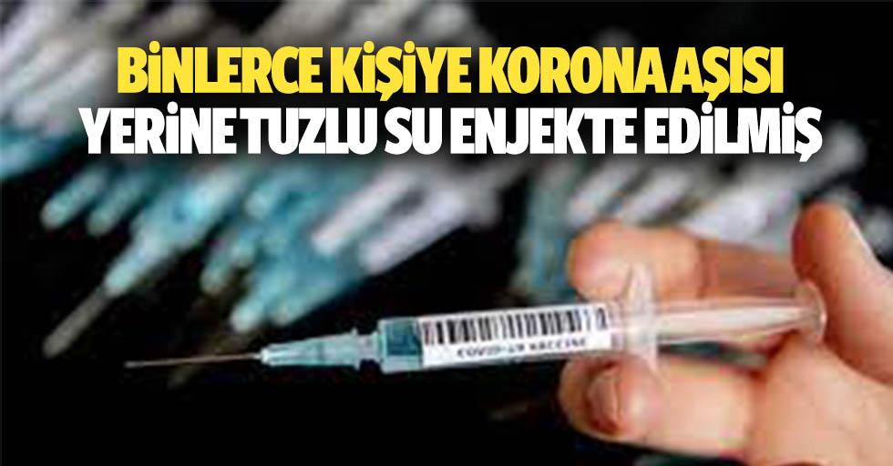 Binlerce Kişiye Korona Aşısı Yerine Tuzlu Su Enjekte Edilmiş