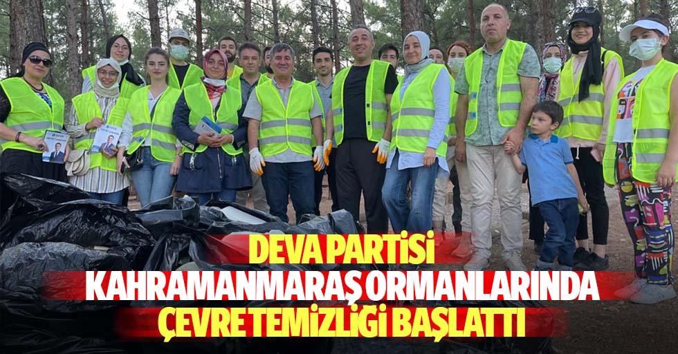 Deva Partisi Kahramanmaraş ormanlarında çevre temizliği başlattı