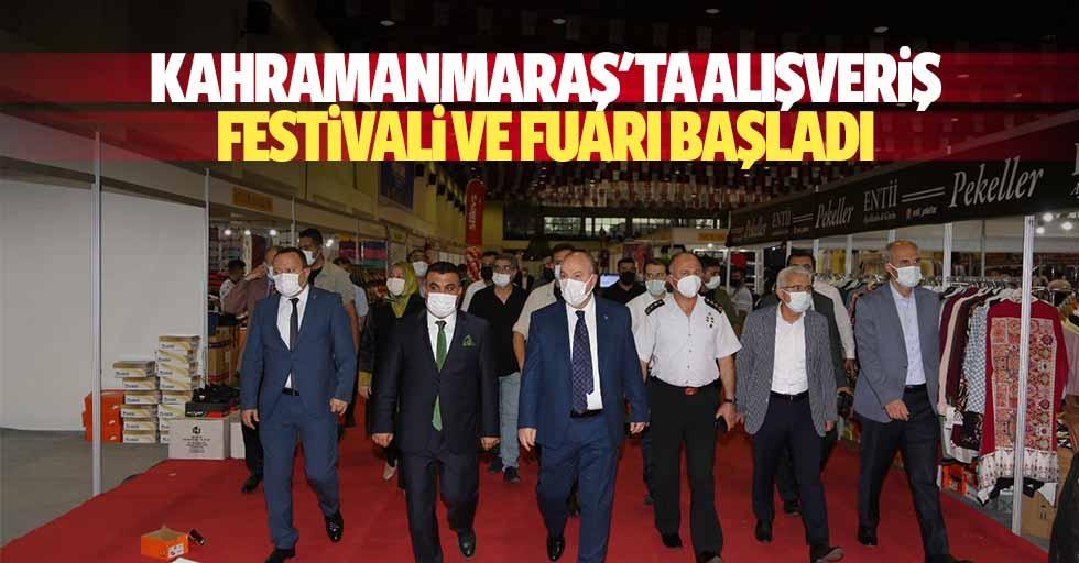 Kahramanmaraş'ta alışveriş festivali ve fuarı başladı