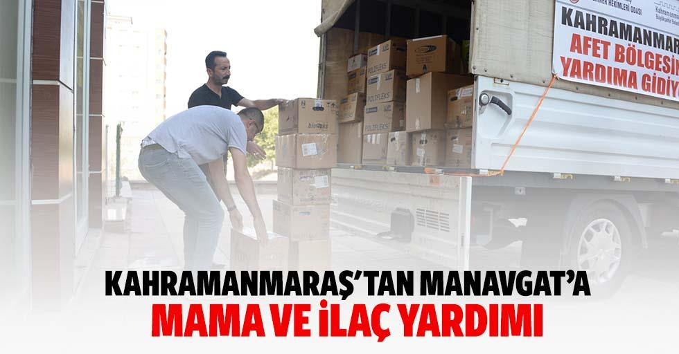 Kahramanmaraş'tan Manavgat'a mama ve ilaç yardımı