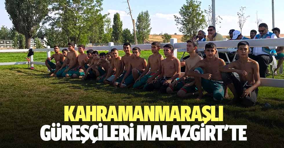 Kahramanmaraşlı güreşçileri Malazgirt'te