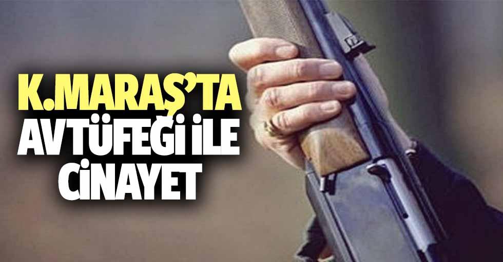 Kahramanmaraş'ta av tüfeği ile cinayet