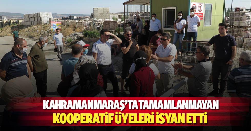 Kahramanmaraş'ta tamamlanmayan kooperatif üyeleri isyan etti