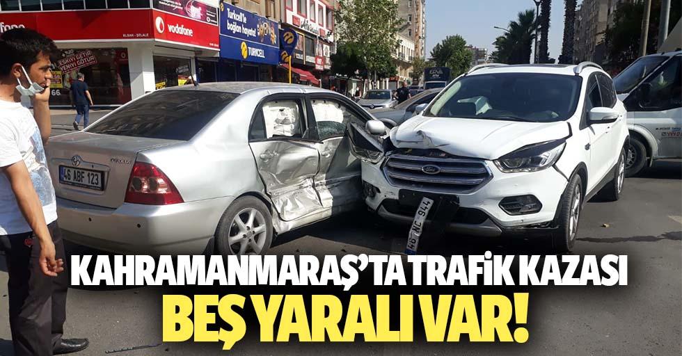 Kahramanmaraş'ta trafik kazası, 5 yaralı