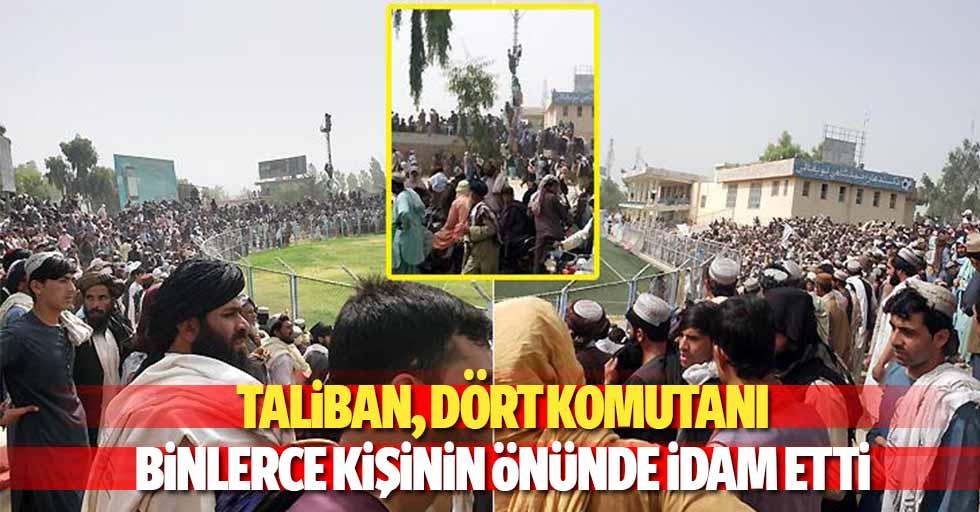 Taliban, Dört Komutanı Binlerce Kişinin Önünde İdam Etti