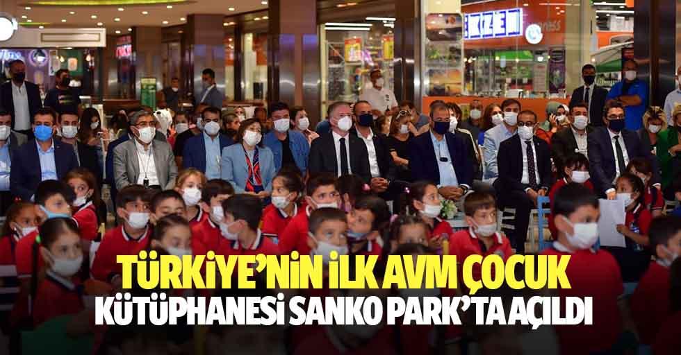 Türkiye'nin ilk AVM Çocuk Kütüphanesi Sanko Park'ta Açıldı