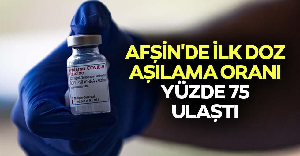 Afşin'de ilk doz aşılama oranı yüzde 75 ulaştı