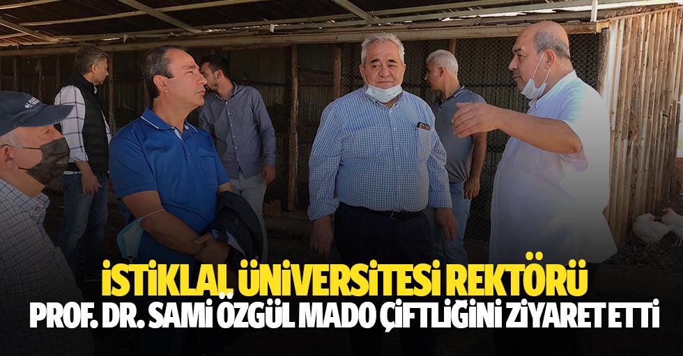 İstiklal Üniversitesi Rektörü Prof. Dr. Sami Özgül Mado çiftliğini ziyaret etti