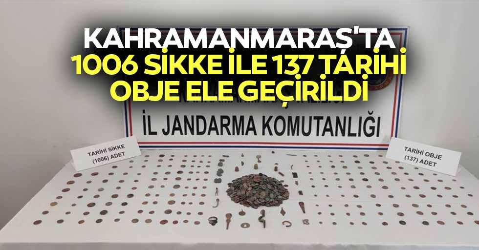 Kahramanmaraş'ta 1006 Sikke İle 137 Tarihi Obje Ele Geçirildi