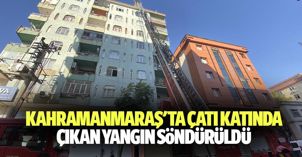 Kahramanmaraş'ta Çatı Katında Çıkan Yangın Söndürüldü