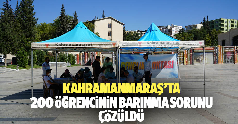 Kahramanmaraş'ta 200 öğrencinin barınma sorunu çözüldü