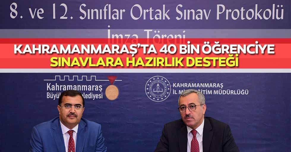 Kahramanmaraş'ta 40 Bin Öğrenciye Sınavlara Hazırlık Desteği