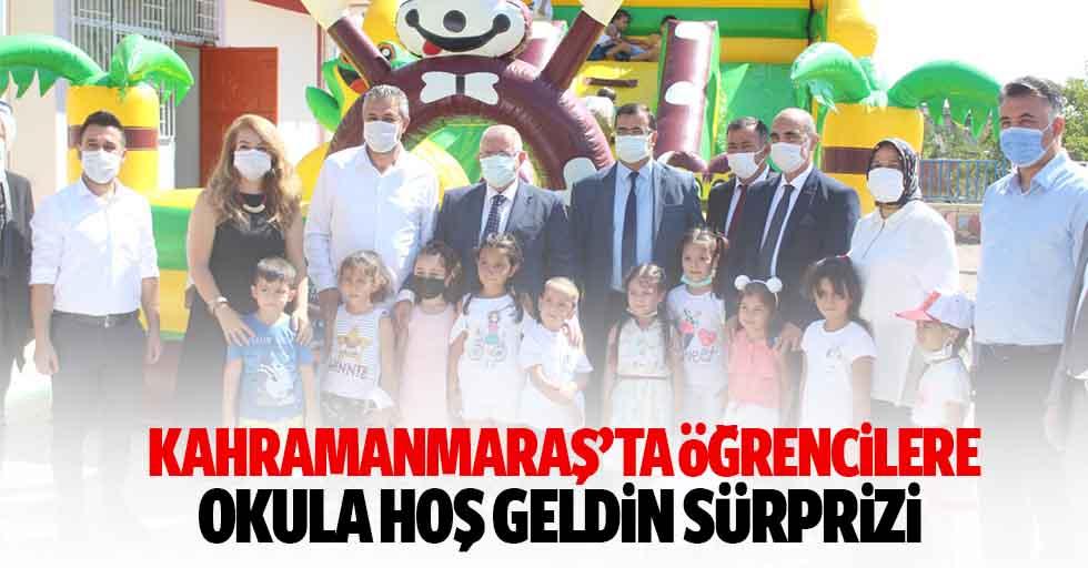 Kahramanmaraş'ta öğrencilere okula hoş geldin sürprizi