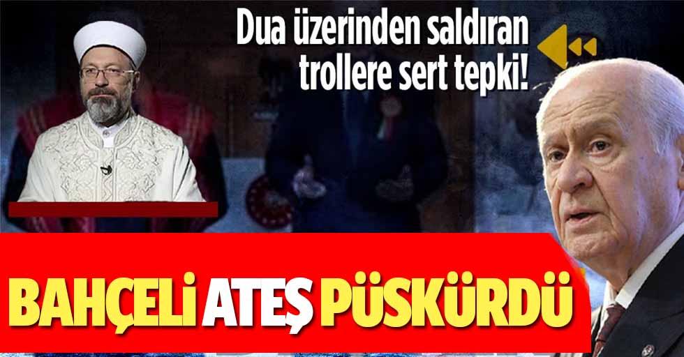 MHP Lideri Devlet Bahçeli'den Yargıtay binasının dua ile açılmasını eleştirenlere sert tepki