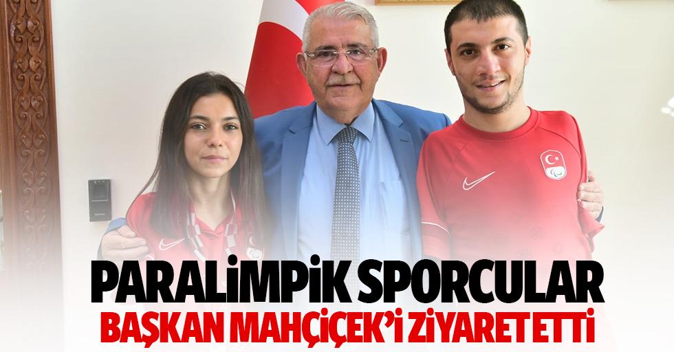 Paralimpik Sporcularımız Başkan Mahçiçek'i Ziyaret Etti