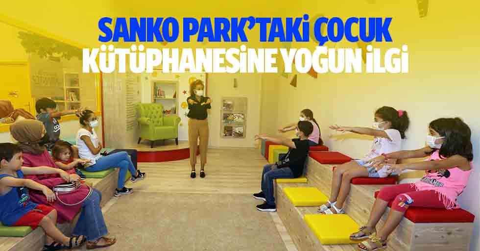 SANKO Park'taki çocuk kütüphanesine yoğun ilgi