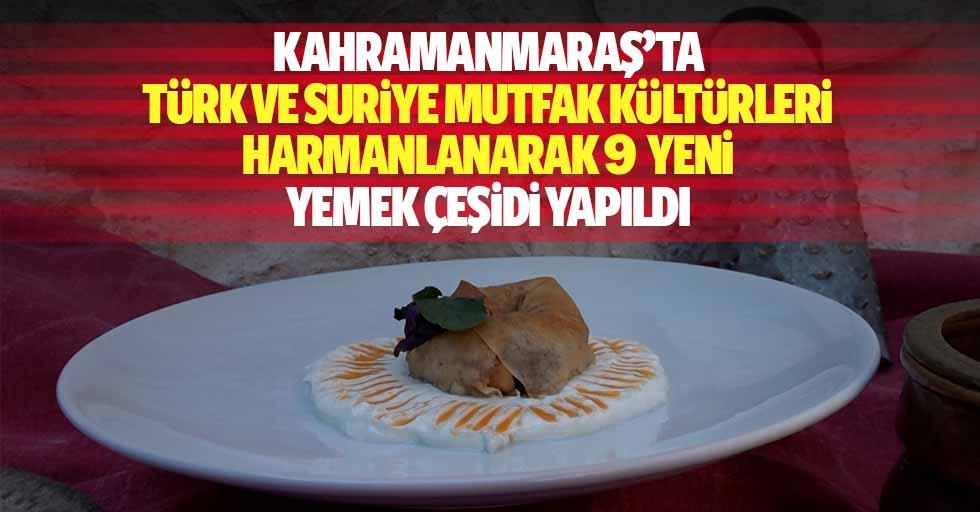 Kahramanmaraş'ta Türk ve Suriye mutfak kültürleri harmanlanarak 9 yeni yemek çeşidi yapıldı