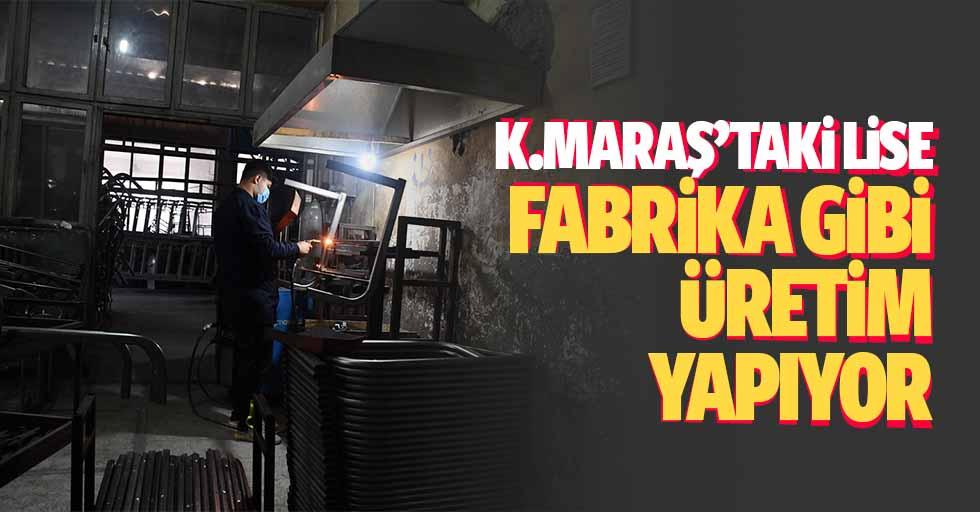 Kahramanmaraş'taki Lise Fabrika Gibi Üretim Yapıyor