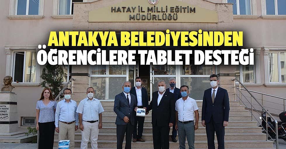 Antakya belediyesinden öğrencilere tablet desteği